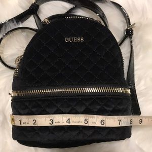 c10941ca3d Guess Bags - Black Velvet GUESS mini backpack purse